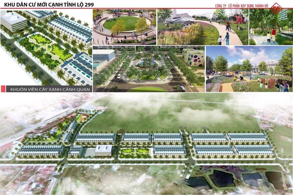 Phối cảnh dự án Dĩnh Trì - khu dân cư mới cạnh tỉnh lộ 299