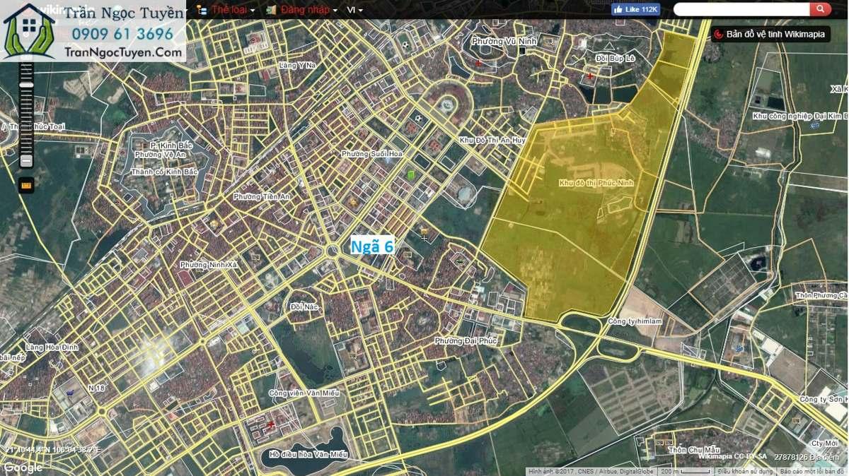 vị trí khu đô thị Phúc Ninh Bắc Ninh