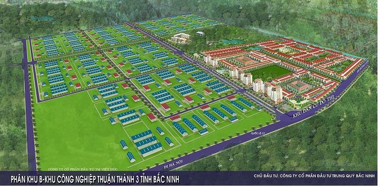 Phối cảnh tổng thể dự án khu đô thị Thuận Thành 3 Bắc Ninh