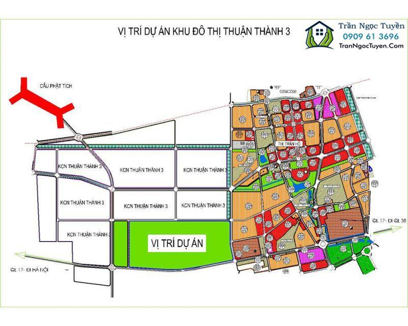 Vị trí Khu đô thị Thuận Thành 3 Bắc Ninh vị trí
