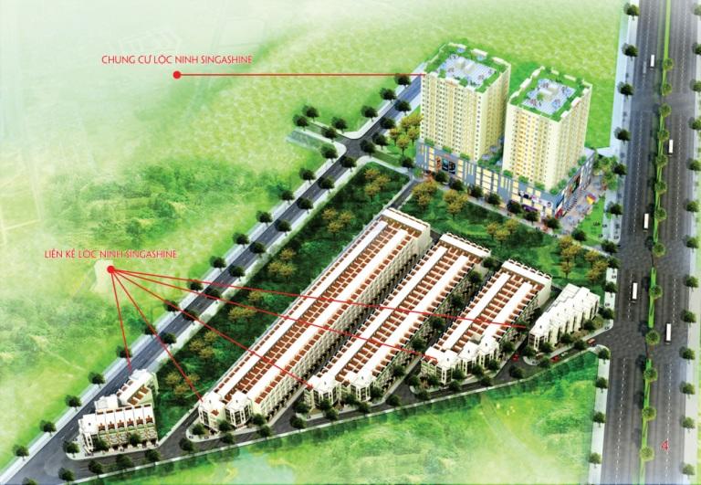 sản phẩm dự án Lộc Ninh SingaShine
