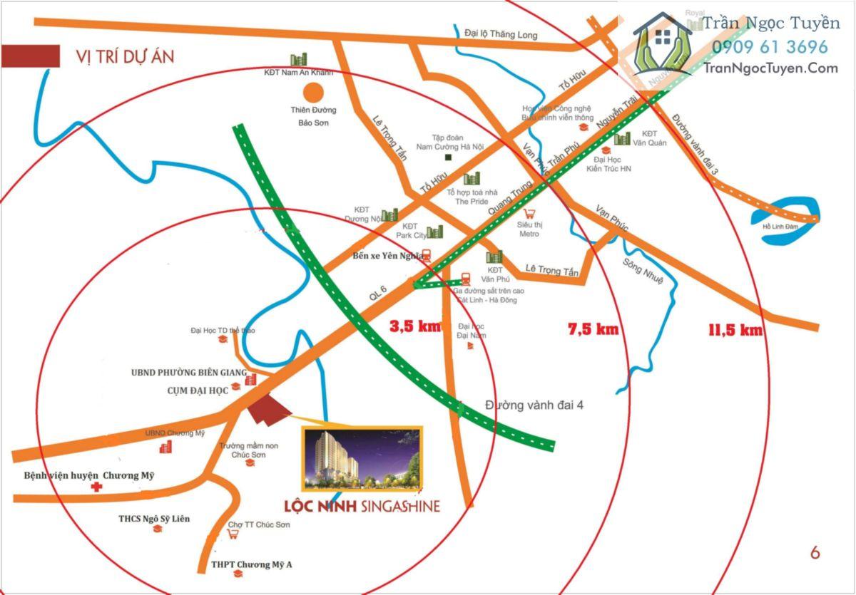 Lộc Ninh SingaShine vị trí dự án