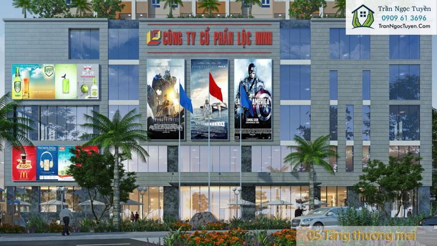 Mặt tiền thương mại chung cư Lộc Ninh SingaShine