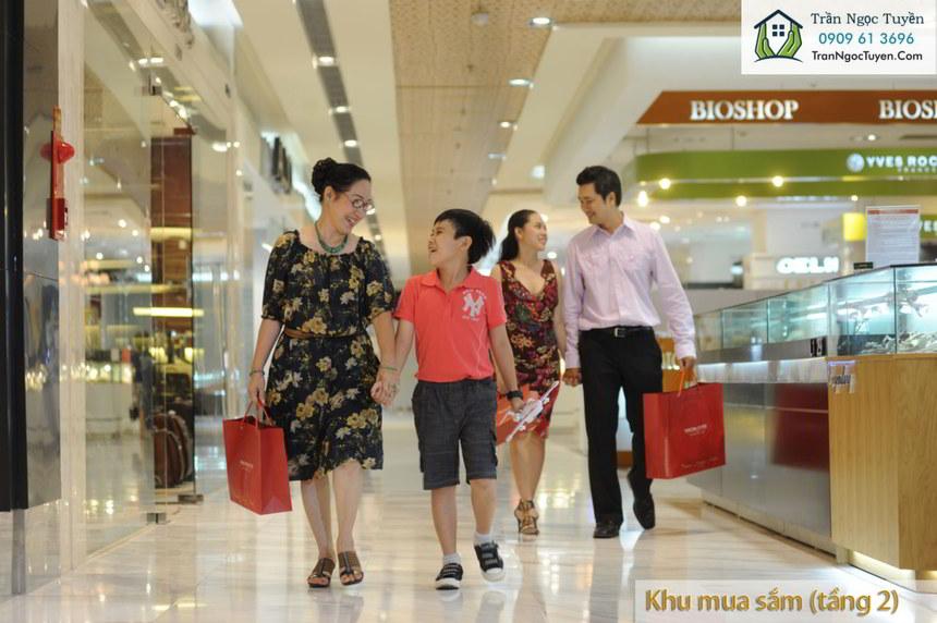 Khu mua sắm tại tầng 2 chung cư Lộc Ninh SingaShine