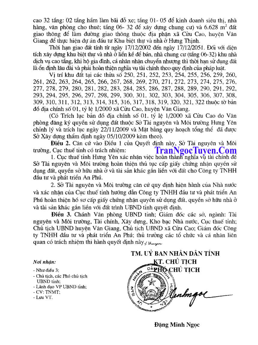 Quyết định số: 1933/QĐ-UBND của UBND tỉnh Hưng Yên ngày 05 tháng 10 năm 2010