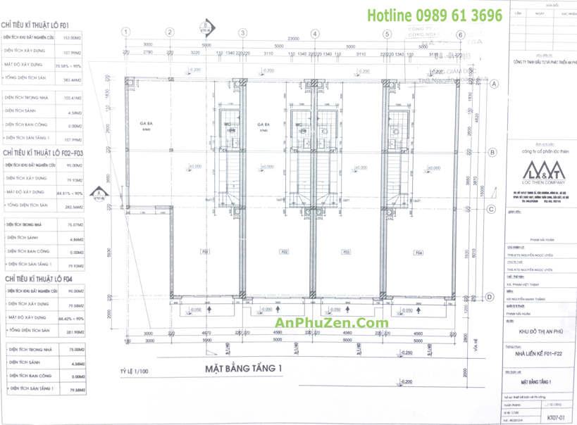 Thiết kế mặt bằng tầng 1 nhà phố An Phú Zen Garden 90m2