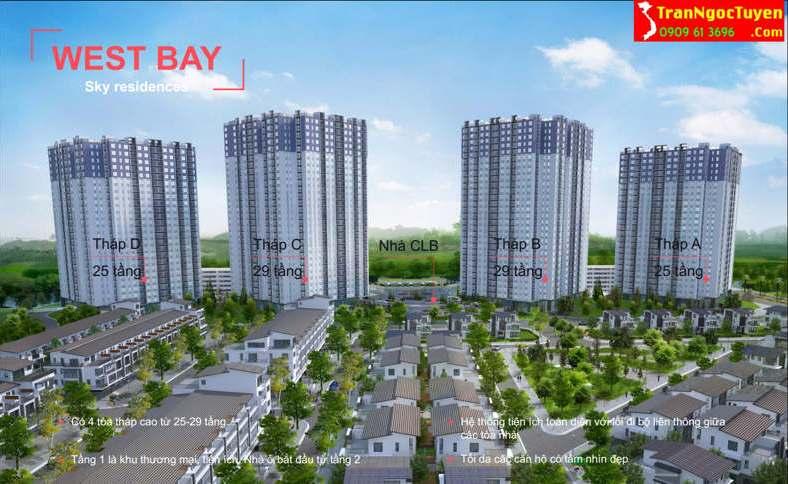 west bay sky residences phối cảnh
