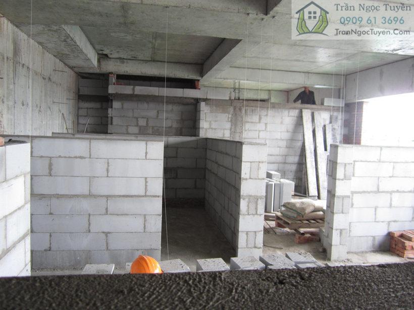 gạch bê tông khí chưng áp aac xây dựng tường phân phòng