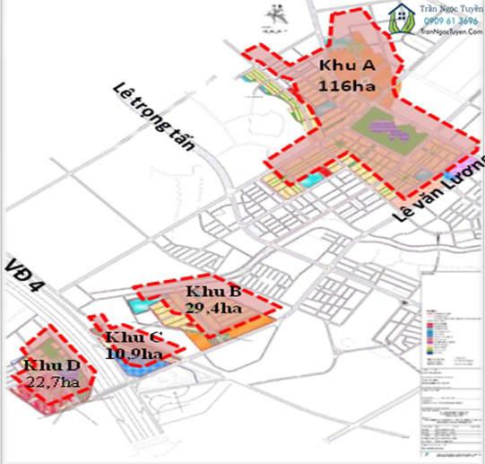 Quy hoạch từng khu biệt thự Dương Nội