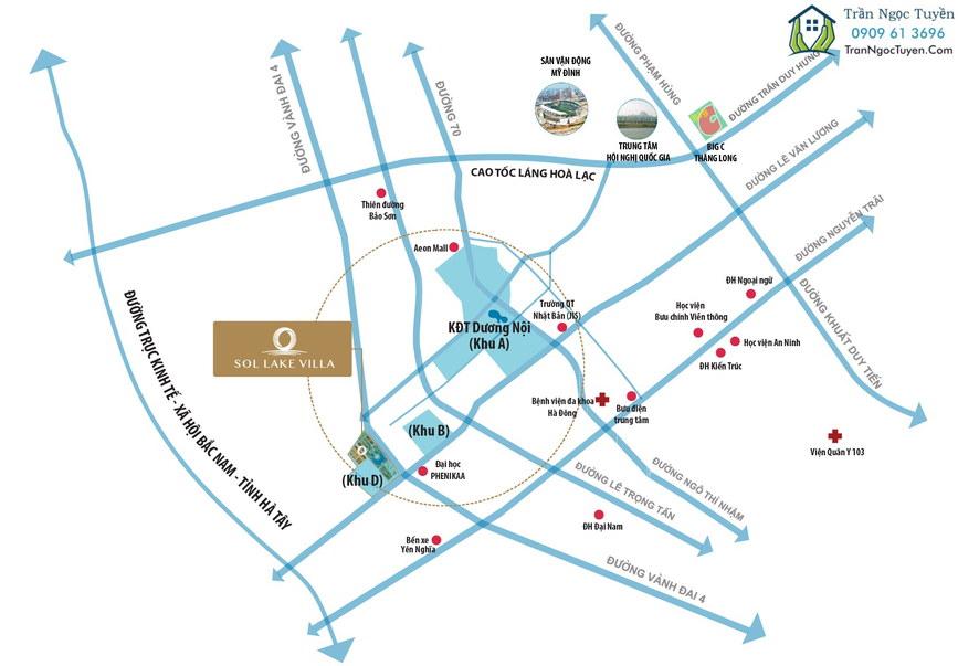 Chuỗi khu đô thị mới Dương Nội dọc đường Lê Văn Lương - Tố Hữu của chủ đầu tư Nam Cường