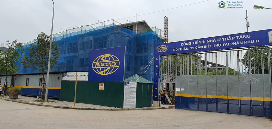 Công trường Sol Lake Villa đang thi công