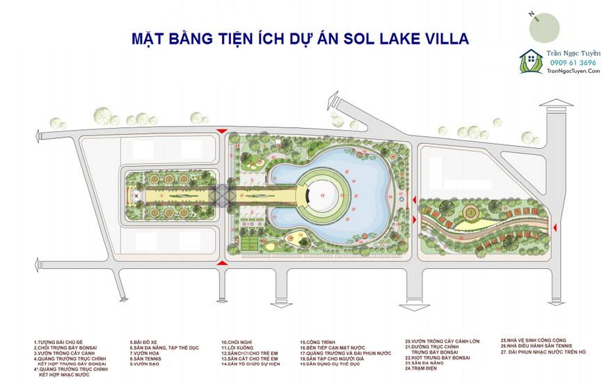 Tiện ích nội khu biệt thự Sol Lake Villa