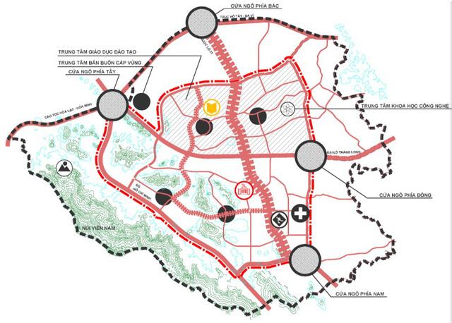 Vị trí 4 cửa ngõ vào siêu đô thị Hoà Lạc