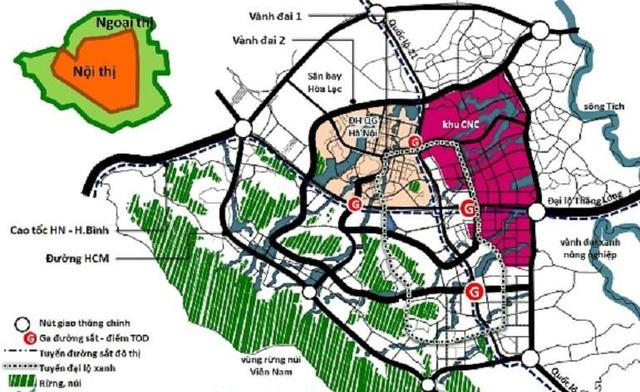 Quy hoạch khu công nghệ cao Hoà Lạc trong siêu đô thị vệ tinh Hoà Lạc