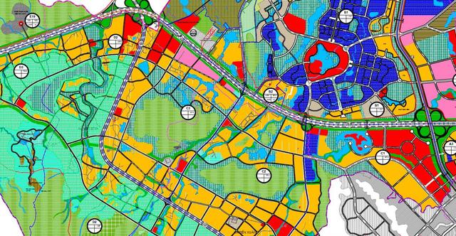Phân khu đô thị trong siêu đô thị vệ tinh Hoà Lạc