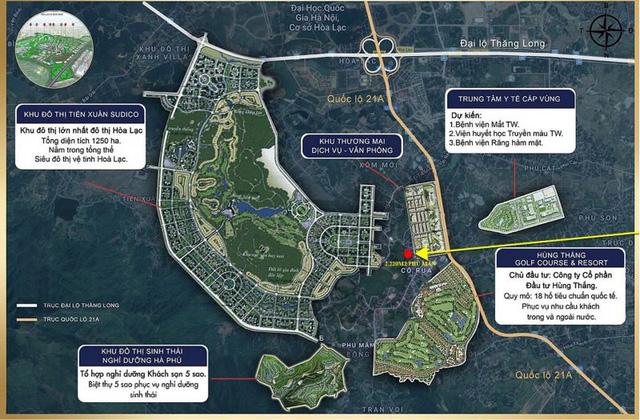 Phân khu chức năng chuỗi đô thị tại khu đô thị vệ tinh Hòa Lạc