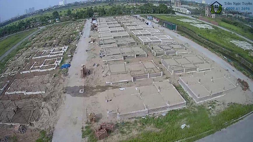biệt thự Vườn Cam đang xây dựng các lô biệt thự mã DL01