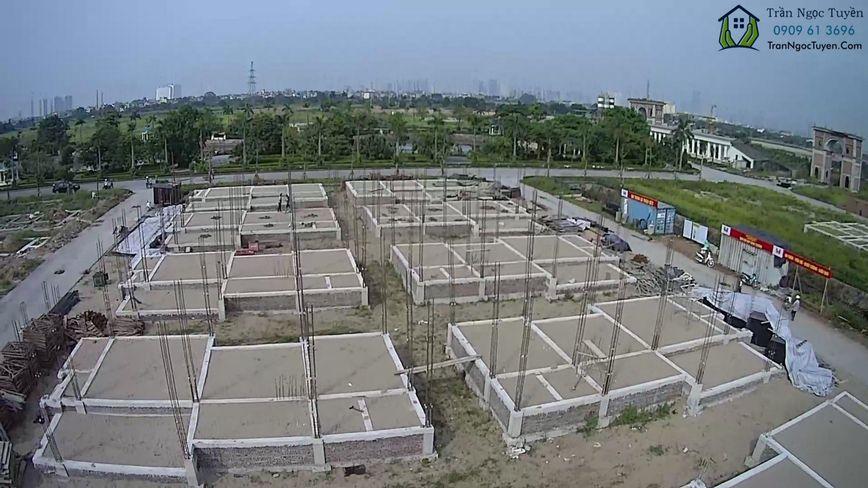 Các lô biệt thự DL01 biệt thự Vườn Cam đã xong móng, bắt đầu xây thân
