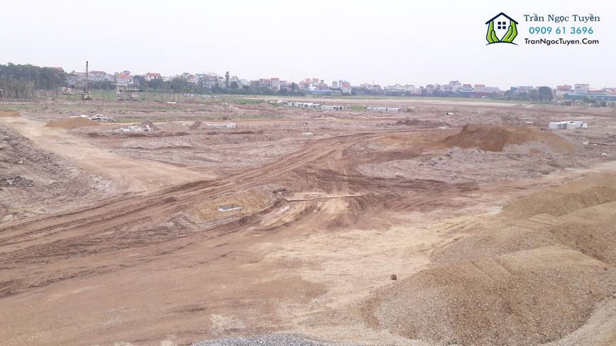Liền kề Nam 32 giai đoạn 2 đang được triển khai làm hạ tầng