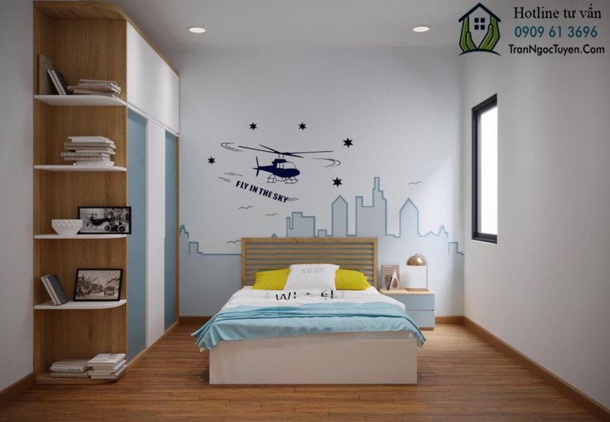 phòng ngủ nhỏ tầng 2 nhà liền kề nam 32