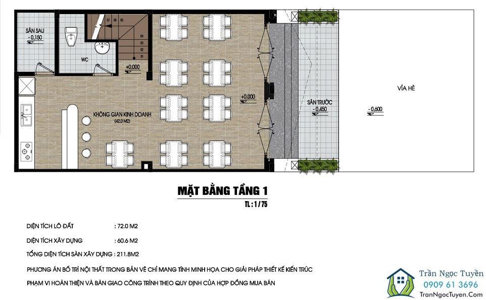 Mặt bằng Shop house dự án Nam 32