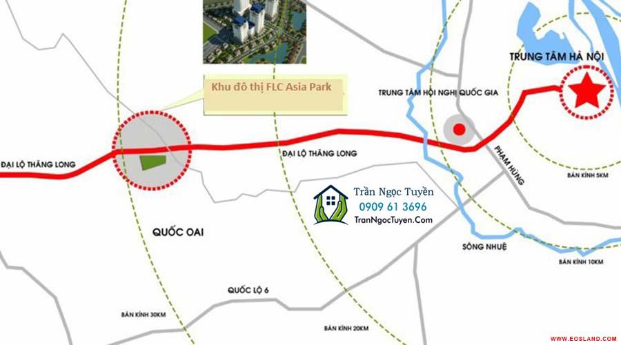 Vị trí dự án FLC Asia Park
