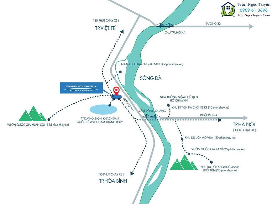 Vị trí dự án Wyndham Thanh Thủy Hotels & Resorts