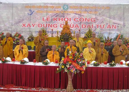Lễ khởi công chùa Đại Từ Ân