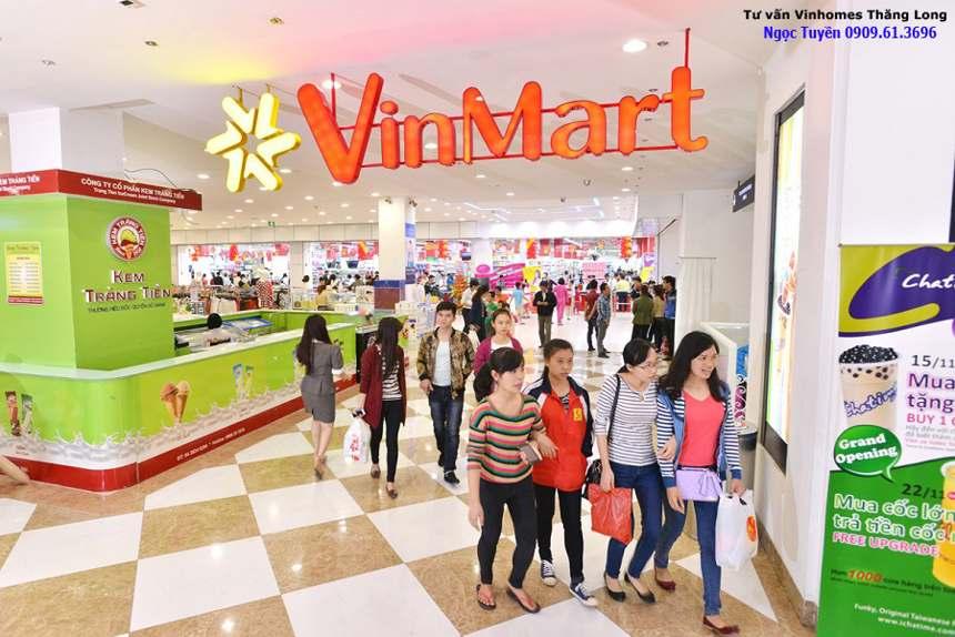 Vinhomes Thăng Long siêu thị Vinmart