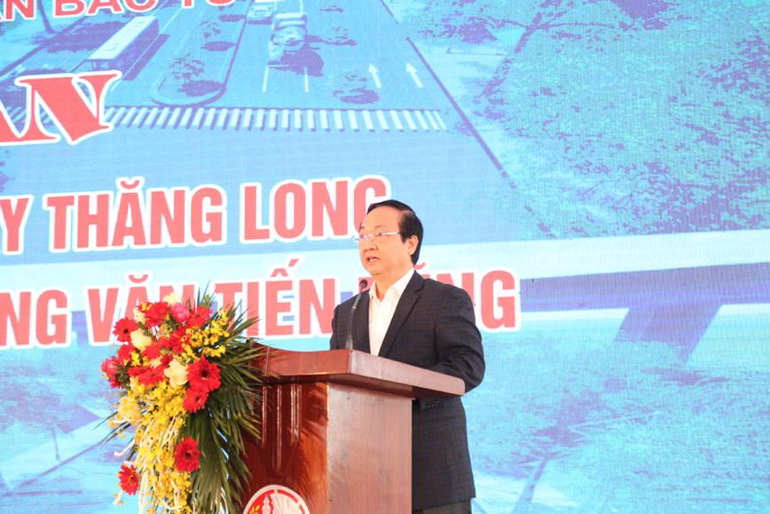 Đường Tây Thăng Long khởi công đoạn Văn Tiến Dũng tới Phạm Văn Đồng
