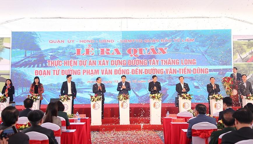 Lễ ra quân thực hiện dự án xây dựng đường Tây Thăng Long