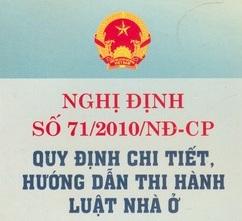 Nghị định 71 NĐ-CP